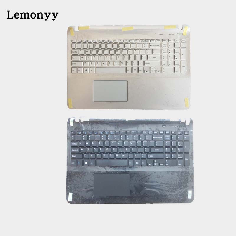US laptop keyboard for sony SVF152A29W SVF1521GSAW SVF1532BCXW SVF1521GSAW SVF1532BCXW white with Palmrest Touchpad Cover