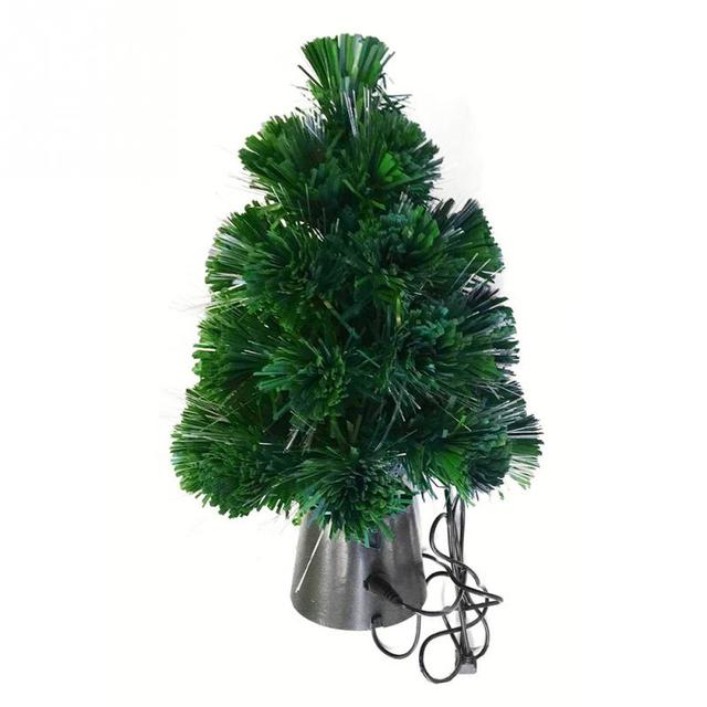 30 cm mini fiber optic desktop usb charge christmas tree pine ornament party home decorations