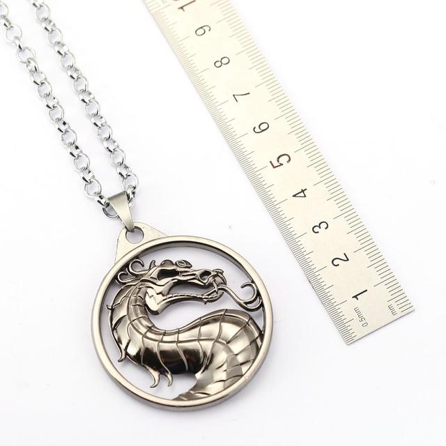Mortal Kombat Necklace Gragon Pendant Necklace Friendship Men Women Game Jewelry Choker Accessories