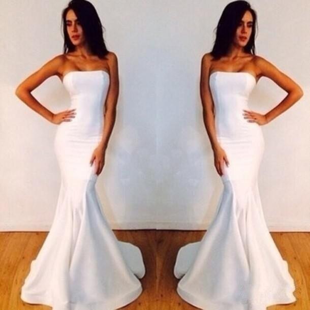 White Sleeveless Prom Dresses