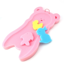 Newborn Anti-slip Sponge Pad Baby Bath Tub Bathing Infant Shower Care