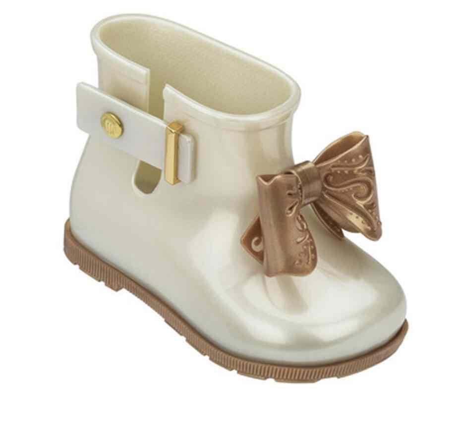 Mini niños niñas Botas de lluvia sandalia mariposa-Nudo impermeable niños niñas zapatos niñas antideslizante Sandalias Niño niña Botas
