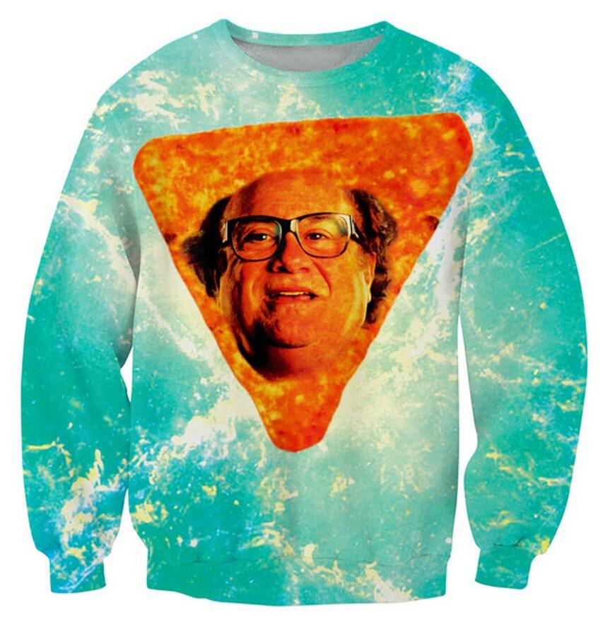Danny Dorito Crewneck Sweatshirt Sexy Sweats Danny DeVito In Nacho Cheese Flavor 3d Jumper For Women Men Pullovers S-5XL