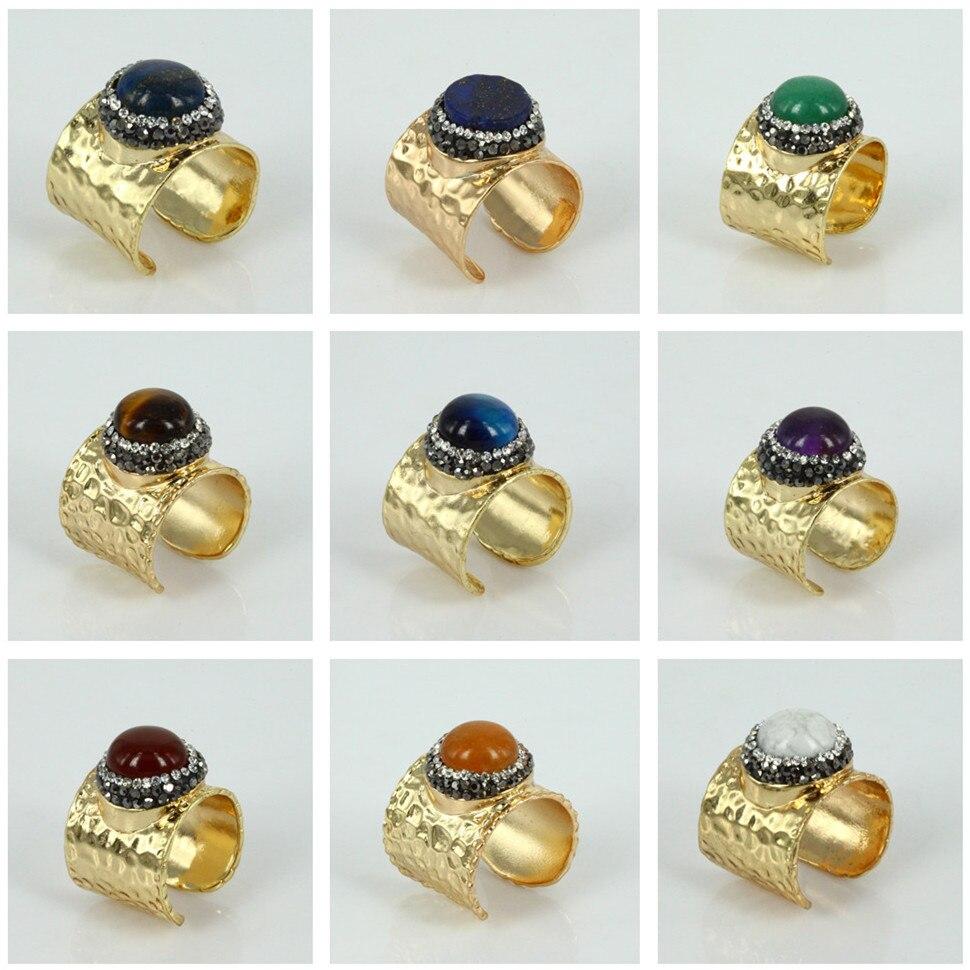charms jewelry <font><b>red</b></font> coral <font><b>brown</b></font> <font><b>blue</b></font> tiger eye shell pearl <font><b>green</b></font> gem stone rhinestone surface gold silver color base open ring