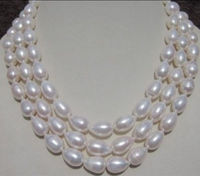 06697 WHITE SOUTH SEA BAROQUE PEARL NECKLACE 60 beads jewelry making