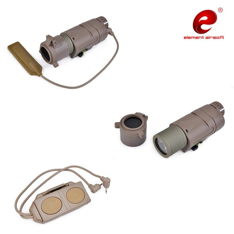 elemento airsoft peq15 lanterna tatica ir red 04