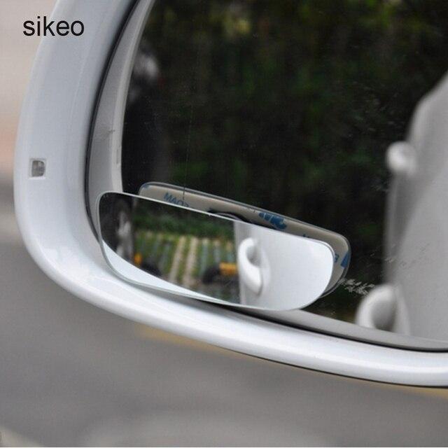 Sikeo 360 Graus Wide Angle Blind Spot Espelho Convexo Espelho de Carro Estacionamento Auto Vista Traseira Da Motocicleta Espelho Ajustável