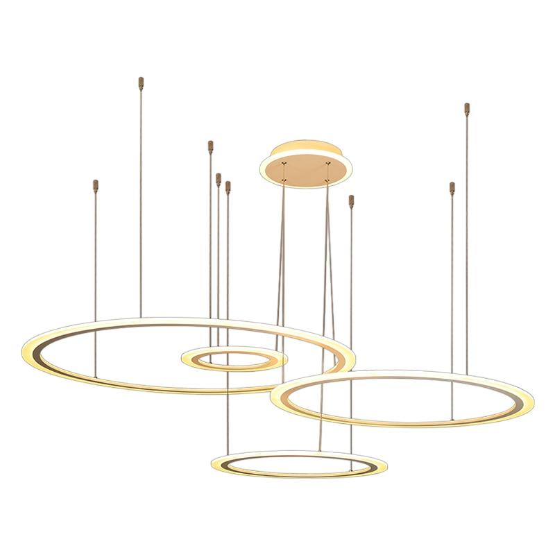 Hanging Lamp Rings Modern Led Pendant Light For Dining room Kitchen Living room Ceiling Fixtures LED Penant Lamp Indoor Fixtures in Pendant Lights from Lights Lighting