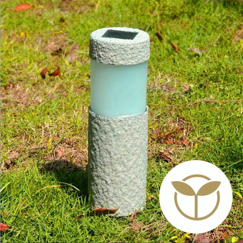 Us 7 96 53 Off 1pc Solar Garden Light Stone Pillar White Led Outdoor Lawn Lamp Court Yard Decoration In
