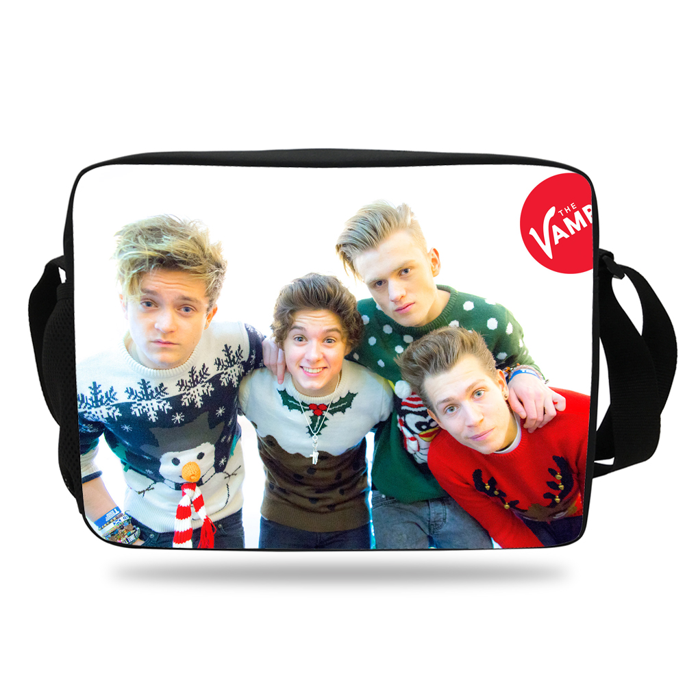 Super Star Print Messenger Bag For Men Women The Vamps Single Shoulder Bag  For Kids School Boys Girls Travel Bag For Children-in School Bags from  Luggage ... 5d49464104d2c