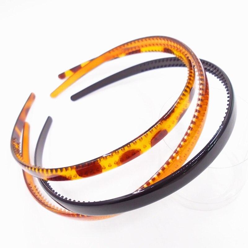 Free Shipping Black Fashion Plain Lady Plastic Hair Band Headbands Teeth   Headwear   Girl Hair DIY Tool Accessories Head Hoop