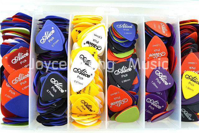Lots of 100pcs Alice Matte Acoustic Electric Guitar Picks Plectrums(Thickness&Color Assorted)Free Shipping Wholesales