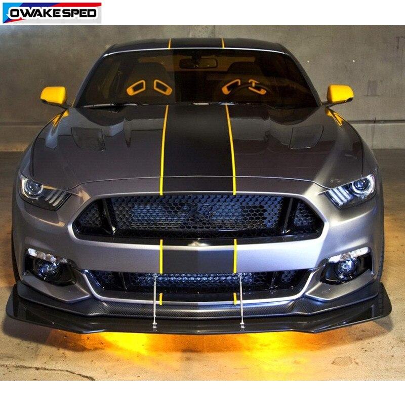 Capot de voiture Toit de Queue pour Décor Autocollant Racing Ligne étiquette en vinyle Auto Corps Personnalisé Autocollants Pour Ford Mustang GT