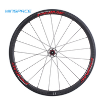 Winspace Carbon Fiber Road Bike Wheel 700C Clincher Wheelset 50mm UD Matte 25mm Width Tubular Wheel DT350 Hub Ceramic Bearings