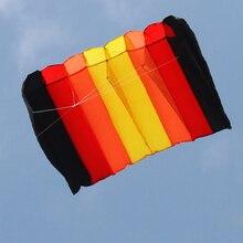 75*135 см многоцветный Однолинейный парашютный воздушный змей Бескаркасный мягкий воздушный змей гигантский Радужный воздушный подъемник игрушки для детей и взрослых