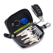 Women Genuine Leather Car key holder Wallets Pink Small Wallet Ladies Purse For Girls Mini Keys Organizer Bags Keychain Clip недорого
