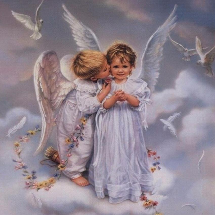 Открытка в дорогу с ангелом