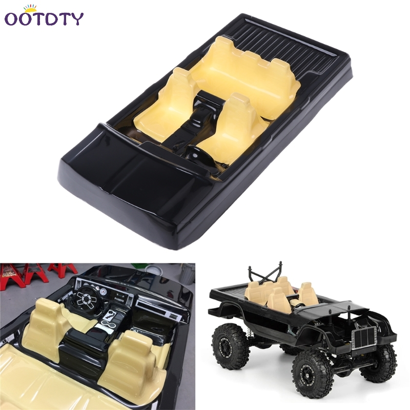 rc car interior decor for 1 10 axial scx10 ii 90046 90047 cherokee body shell black in parts. Black Bedroom Furniture Sets. Home Design Ideas