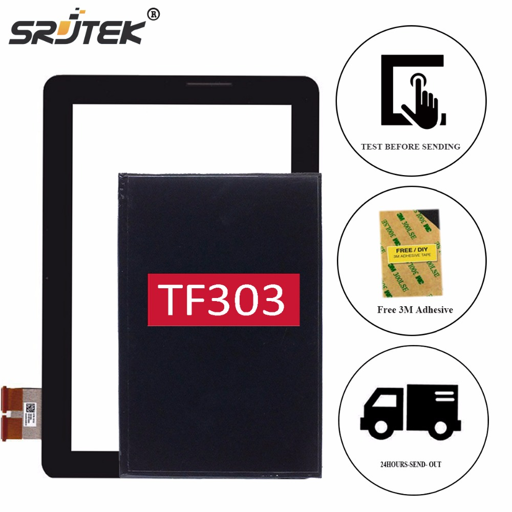 Srjtek 10.1 For ASUS Transformer Pad TF303 TF303K TF303CL K014 LCD Display Touch Screen Digitizer Glass Sensor Replacement new for asus eee pad transformer prime tf201 version 1 0 touch screen glass digitizer panel tools