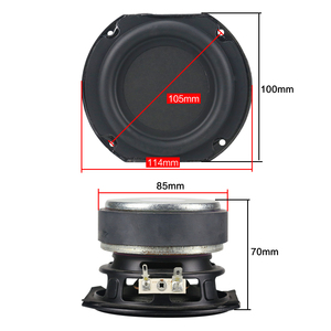 Image 3 - GHXAMP 4 Inch 50W Subwoofer Speaker Units 4ohm Bass Woofer Speaker Home Audio DJ Sound Theater Computer Bluetooth Speakers 1pcs