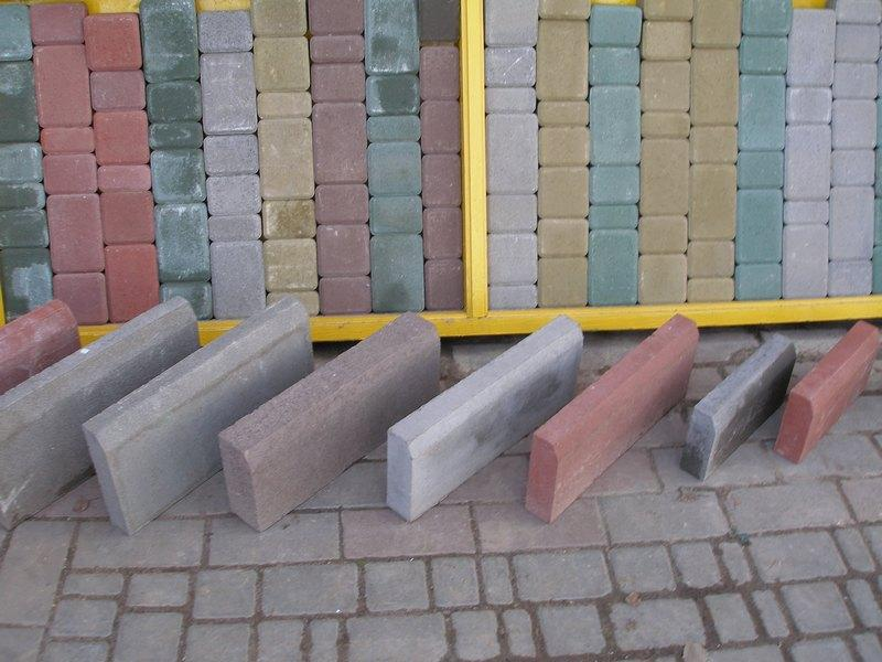 Plastic molds for concrete Border stone for garden Border stone semicircul Plaster Stone Tiles Hard ABS