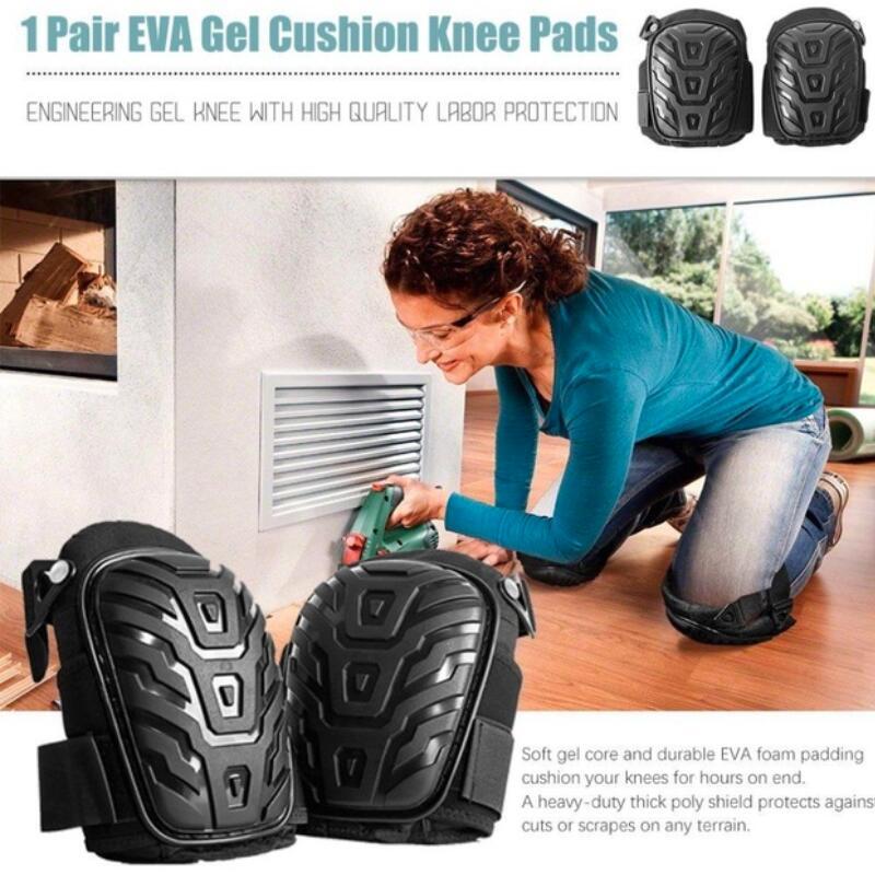1 Paar Professionelle Knie Pads Mit Verstellbaren Trägern Sicher Eva Gel Kissen Pvc Shell Knie Pads Für Heavy Duty Arbeit Sicherheit & Schutz