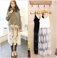2019 New Lace Womens Slips Slip Skirt Plus Size Petticoat Undergarments For Women 9191