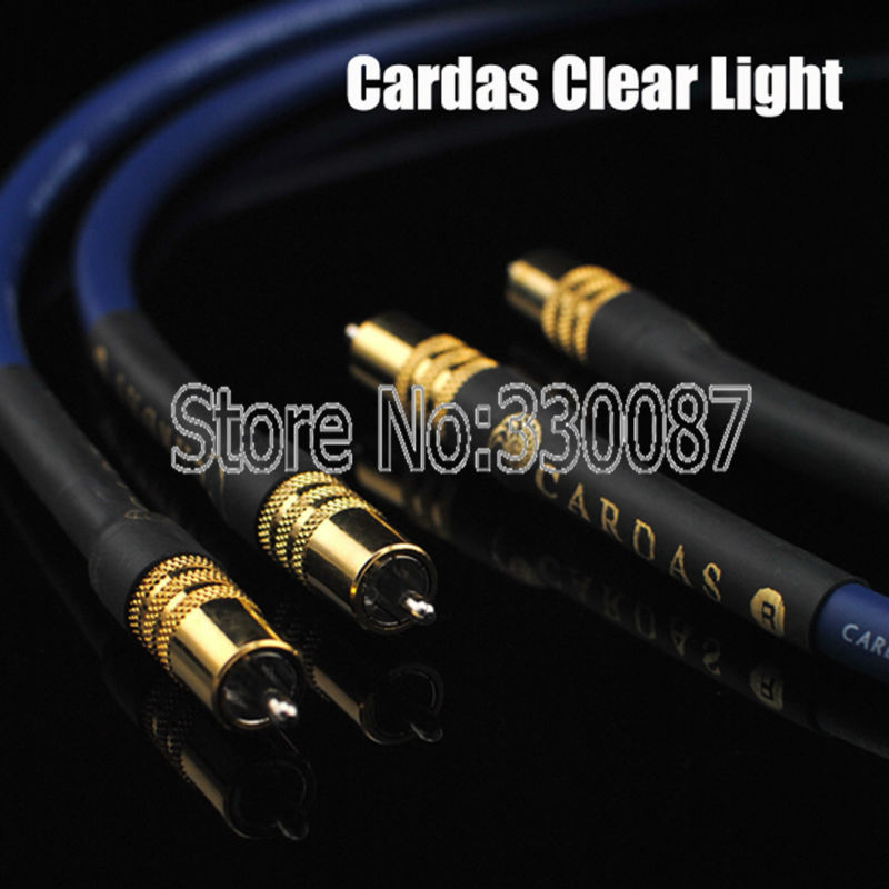 Free shipping pair Cardas Clear Light Interconnect Cable for CD Play AMP audio rca cable 1.5 Meter free shipping cardas clear light interconnect cable xlr to xlr connector plug