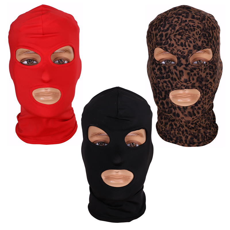Provided Full Face Cover Mask Three 3 Hole Balaclava Knit Hat Winter Stretch Snow Mask Beanie Hat Cap New Black Warm Face Masks Beneficial To Essential Medulla