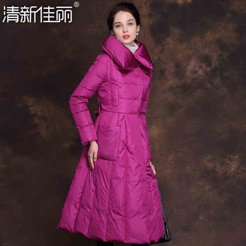 2015 Winter New Hot Thicken Warm Woman Down jacket Coat Parkas Outerwear Lapel Luxury High-end Long Plus Size 2XXL Slim