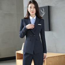 2018 high quality new style Women's Occupation OL office lady set handsome slim suit jacket + trousers