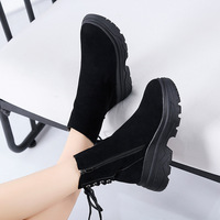 Women Ankle Boots Shoes Woman 2018 Spring Fall Genuine Leather Lace Up Shoes Punk Plus Size Riding, Equestr Boots