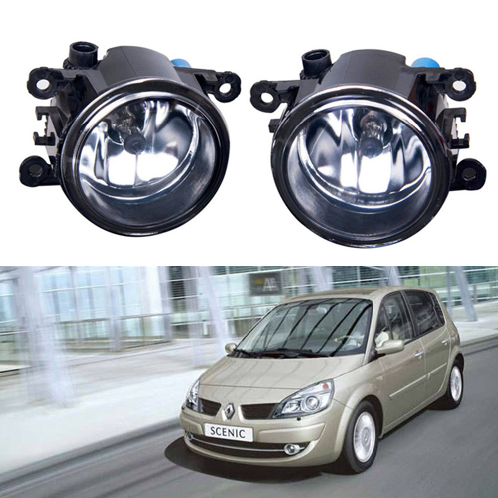 For Renault Scenic II JM0 JM1 JZ0 JZ1 MPV  2003-2009 Car styling Fog lights halogen lamps 1set куплю тормозные колодки на renault scenic rx4