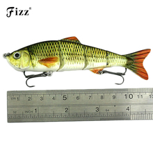 New 4 Segments Fishing Lure Jointed Lures Life-like Baby with Artificial Hooks 3D Eyes Crank Baits Tackle JM022