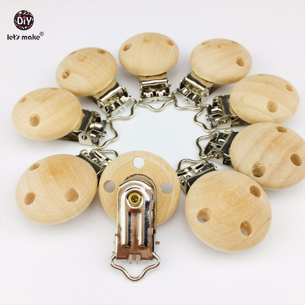 Let's Make 40pcs Wooden Teether Dummy Clip (2.9*4.6 cm) DIY Pacifier Holder Baby Nursing Accessories Can Chew Clips Baby Teether let s make baby teether wood animal rattle organic teether jungle toy wooden waldorf toys diy accessories can chew baby teether