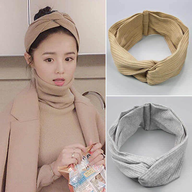 2017 New Design Wide Headbands Hairbands Hair Holders Stars Fabric Cross Knot Hair Accessories Fashion Headwear Korean Bandanas