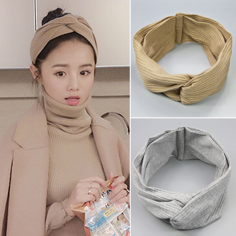 2017 Ny Design Wide Headbands Hairbands Hair Holders Stjerner Fabric Cross Knot Hår Tilbehør Fashion Headwear Korean Bandanas