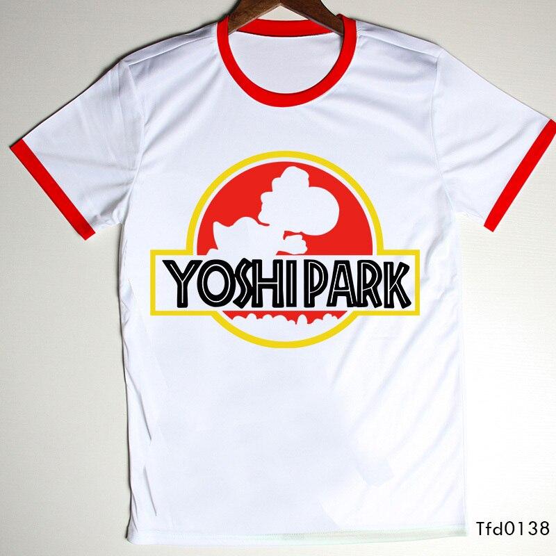 Moda hombres con estilo Camisetas ropa Super Mario Yoshi parque ...
