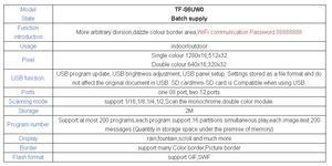 Image 4 - אסינכרוני TF S6UW0 LED סימן WIFI בקרת כרטיס, P10 P8 P5 P6 מודול פנל LED תצוגה, מתאים יחיד & כפול צבעים