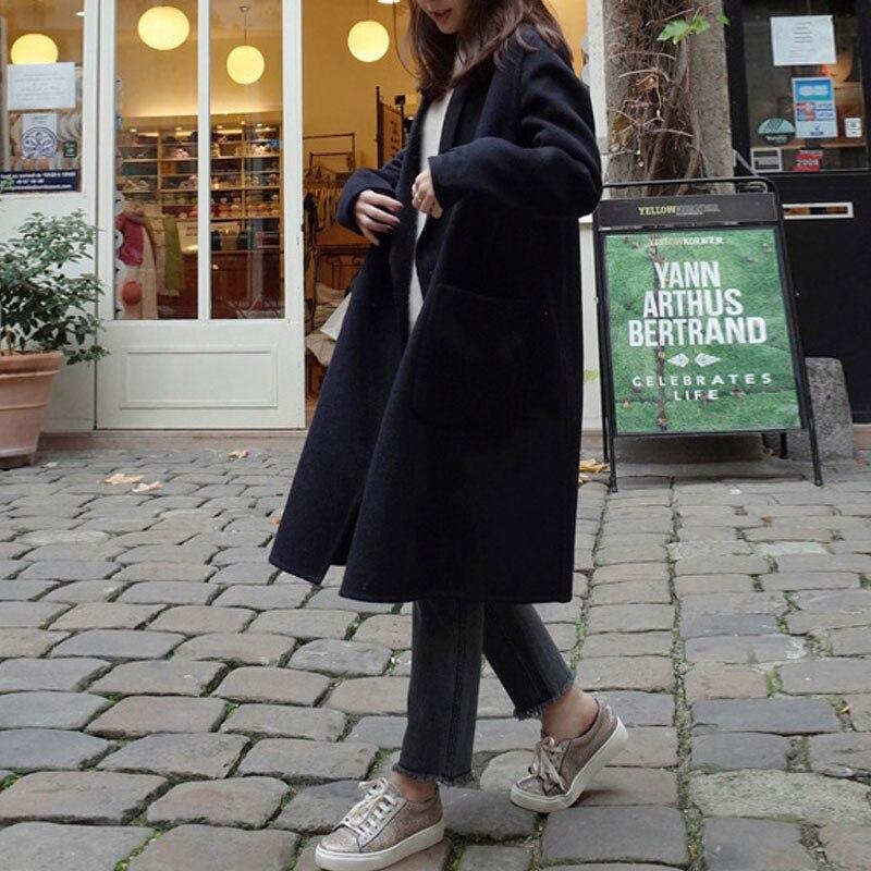 2019 ZANZEA Women Wool Blends Coat Winter Autumn Female Long Sleeve Double Breasted Long Jacket Plus Size Casual Windbreakers 9