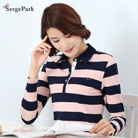 2017 France Brand Eden Serge Park Lady Polo Shirt Spring New Collection Stripe Design For High