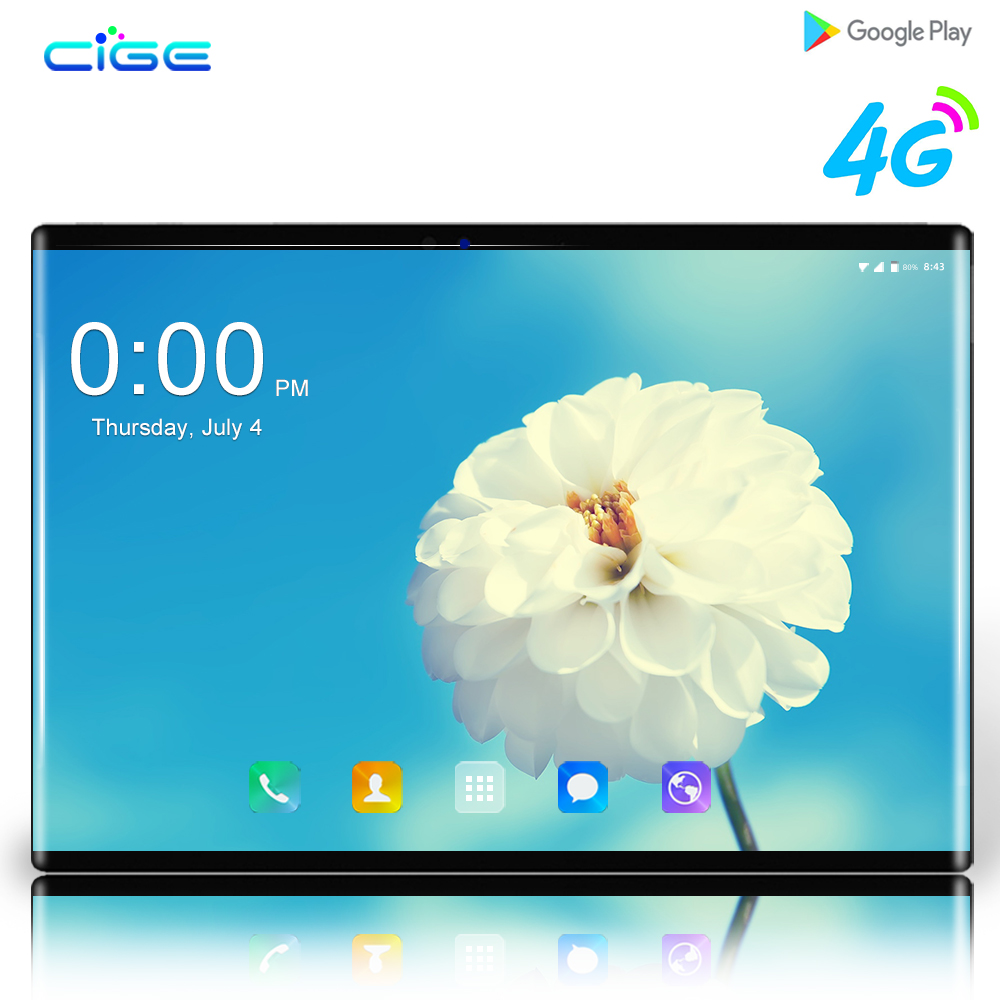 N9 2019 New 10 Inch 4G LTE Tablet PC Octa Core 6GB RAM 64GB ROM 1280*800 IPS 2.5D Tempered Glass 10.1 Android 8.0 Tablets+Gifts