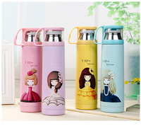 Children Cartoon Vacuum Stainless Steel Vacuum Cup Originality Ma Am Lovely Portable Bubble Tea Cup