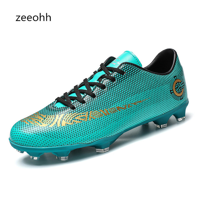fba249b96 Man Soccer Shoes AG Child Football Shoes Outdoor Sport Sneaker For Teenager  Men Gold Soccer Boots Training Athletics Shoes 33-45