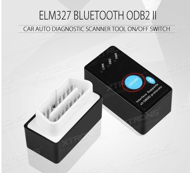 OBD01 Bluetooth OBD2 Car Auto Diagnostic Scanner Power Switch Tool for Android