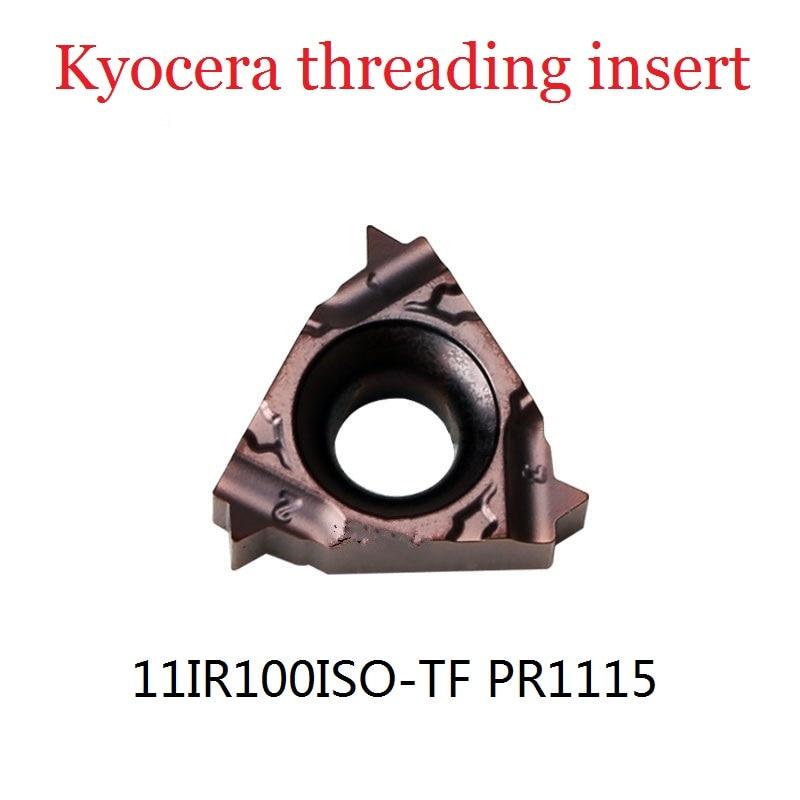 5 Pcs Kyocera Insert 11IR100ISO-TF PR1115 Original Threaded Carbide Inserts Turning Tools Carbide Inserts