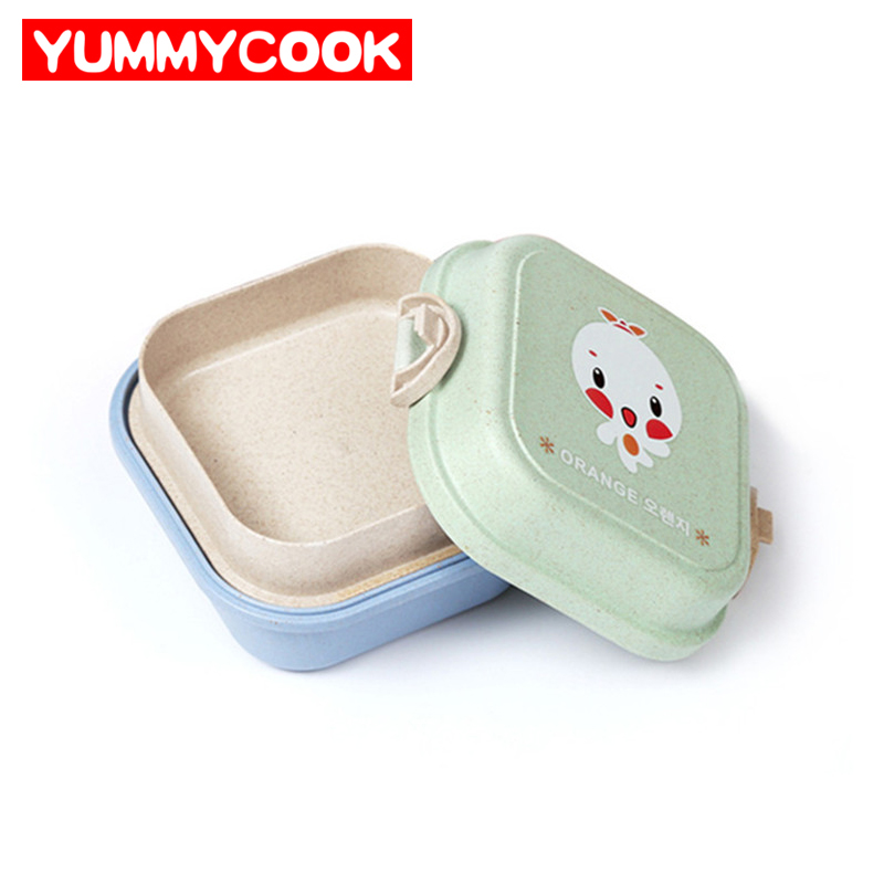 2 Tier Kids Bento Lunch Container Box With Lock Dinnerware Outdoor Tableware Wholesale Kitchen