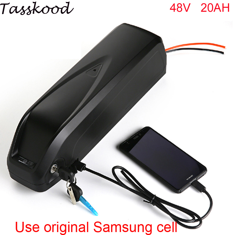Vélo électrique batterie 48 v 20ah 1000 W ebike batterie pour 48 v 1000 w 750 w bafang 8fun moteur avec port USB + Chargeur Pour Samsung cellulaire