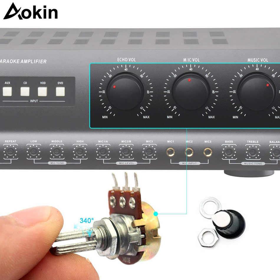 10 قطعة WH148 B1K/B2K/B5K/B10K/B20K/B50K/B100K/B500K 3Pin 15 مللي متر رمح مكبر للصوت الجهد 1 K/2 K/5 K/10 K/50 K/100 k/500 K