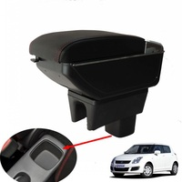 For Suzuki Maruti Dzire Swift armrest box central Store content box with cup holder ashtray USB Swift armrests box